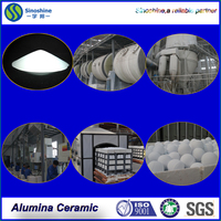 Zibo factory 3-90mm Medium Alumina ceramic Ball for grinding