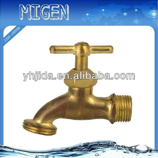 lead free brass Chrome Plating Single brass bibcock tap