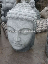 Garden decoration natural granite stone buddha head prices