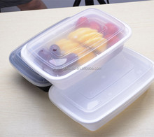1/2/3 plastic reusable lunch box food storage container set