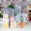Food grade PE plastic Clear zip lock bags for nuts