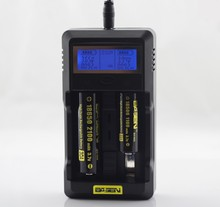 18650 LCD Display rechargeable battery charger usb S2 charger Basen 18650 battery digital s2 battery charger