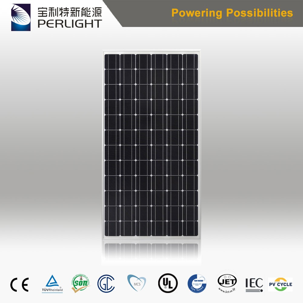High Efficiency Perlight Solar Panel System 310W 72-Series Monocrystalline Silicon Solar Module