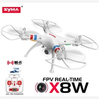 Wholesale kids toy 2.4G 6 Axis Gyro WIFI Syma x8w different types of drones