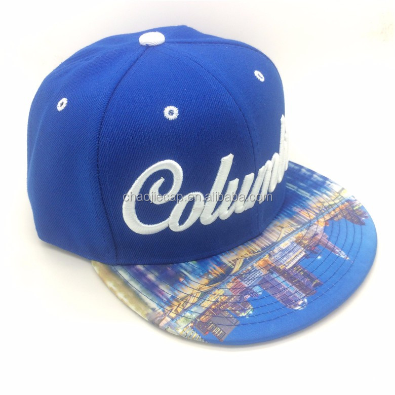 most popular custom snapback mens caps with embroidery