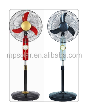 Pedestal standing 16 inch 12 V DC fan for Europe market