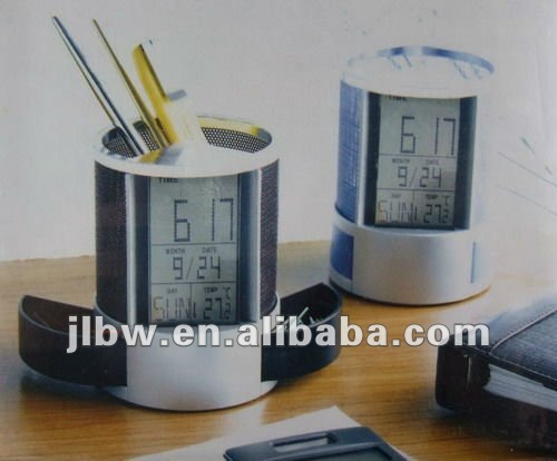 Promotional Gift!Pen holder with electronic Calendar