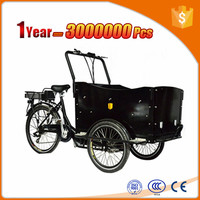 charging 5 hours 3 wheel electric cargo bike/cargo tricycle//cargo trike front box