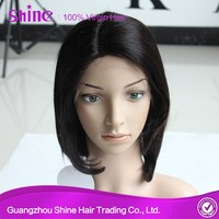 2015 new arrival 100% human hair can be dye finger wave wig
