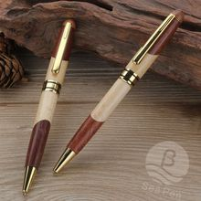 good quality two kinds of wood pen with laser logo custom
