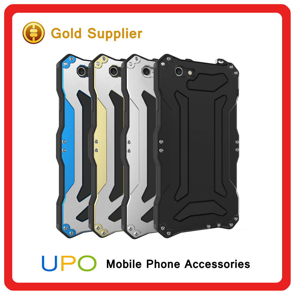 [UPO] Waterproof Shockproof Gorilla Tempered Glass Metal Armor smartphone Cover Case For iPhone 6 6s 6plus
