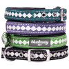 Pet Classic Solid Padded Dog Collar with Jacquard Pattern