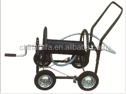 Metal Four Wheel Garden Watering Hose Reel Cart