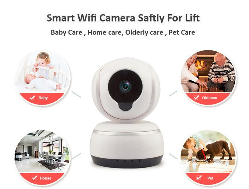 Hd pan tilt home security yoosee camera