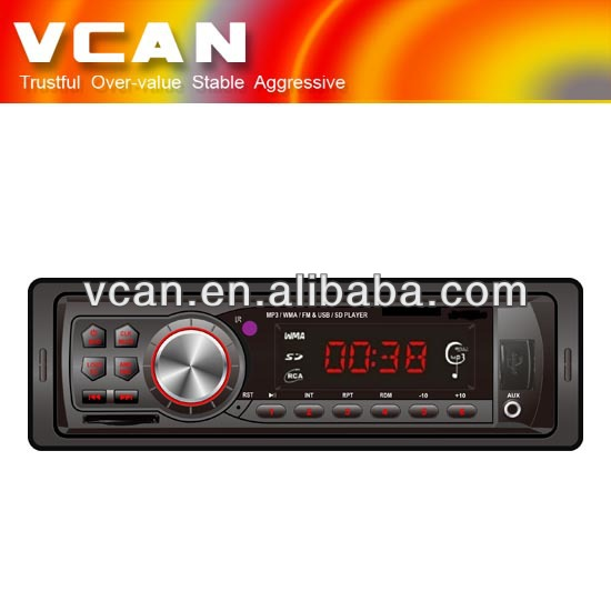In dash One din Car USB SD FM transmitter MP3 player VCAN0713
