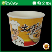 390cc disposable eco paper cups for hot soup bowls