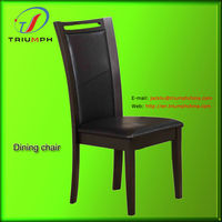 wooden cheap new style dining chairs modern with PU leather+(ANSI)foam