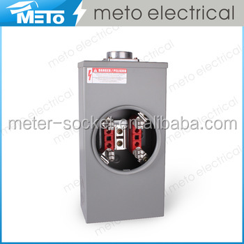 METO 200A Single phase rectangle electrical power plug energy Meter base socket parts for ring type