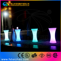LED portable bar table led event furniture / mobile bar counter / cocktail bar