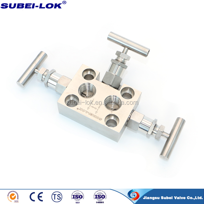 Equalizing valve Three valve single flanged valve manifold