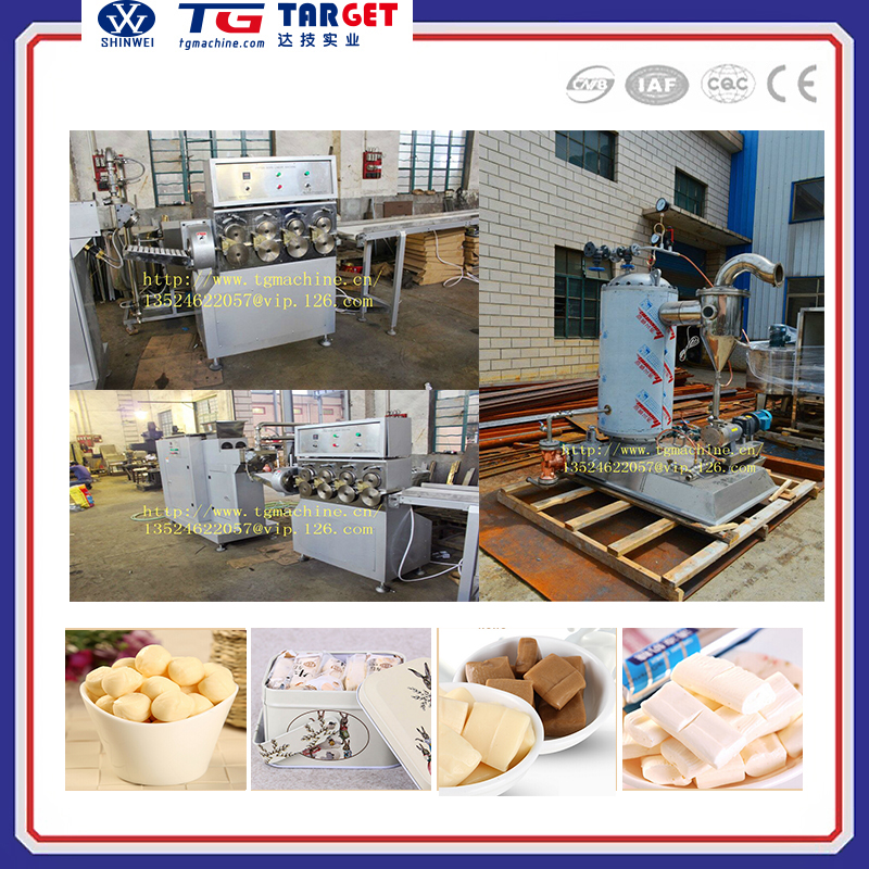 Central filled soft chewy candy production line with special aeration unit