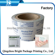 aluminium foil paper Paper/PE/AL/Surlyn, Aluminum Foil Wrapping Paper for leather shoes wet wipes packaging