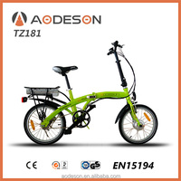 24V 10AMP battery powered electric folding bikes --TZ181 with 250W motor