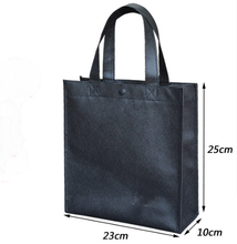 Black Non-Woven Grocery Tote Bag
