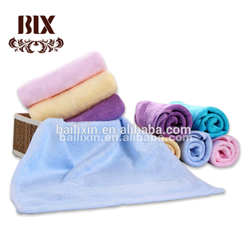 High Quality Solid Color Bamboo Bath Towel with Dobby Border