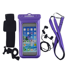 waterproof pvc cellphone bag with Armband