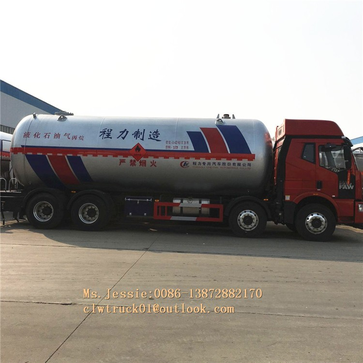 JieFang 8*4 20-40CBM lpg gas tanker truck for sale