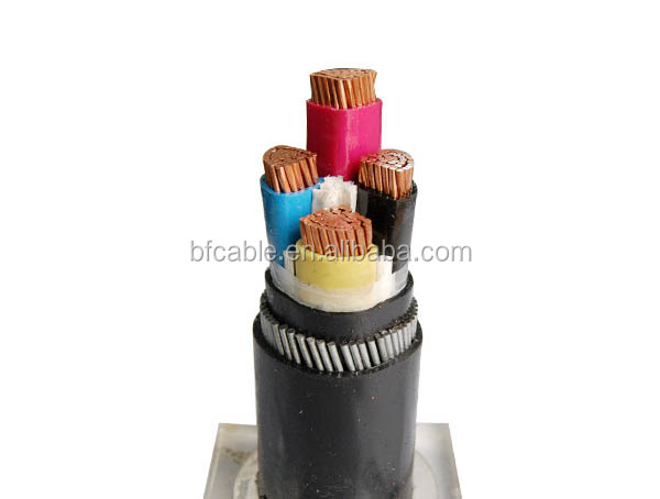 low voltage pvc insulated armored power cable