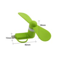 2in1 Hot selling usb fan, usb mini fan for iphone ipad and Android
