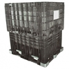 57 x 45 x 65 inch Hopper Bottom Collapsible Bulk Container