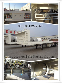 China Made Changhua Brand 2 Axle or 3 Axle Flatbed Trailer