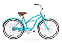 Customized beach cruiser bicycle factory direct cheap beach bike steel beach cruiser