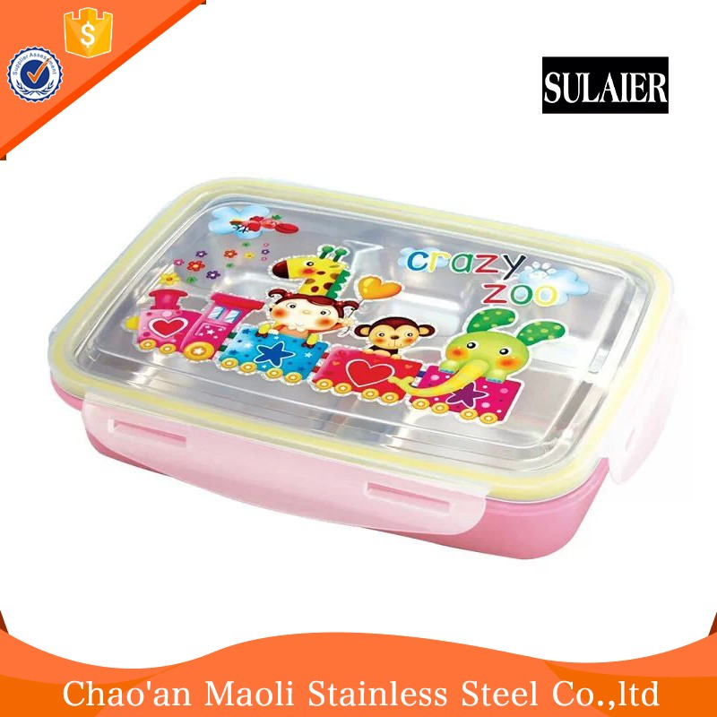 New Patent Design Promotion Stainless Steel Lunch Box/Food Container Box