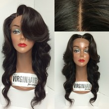 Top quality Brazilian hair online front lace wigs human hair with baby hair