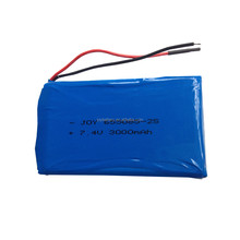 655085 2S1P 7.4V 3000mAh rechargeable lithium polymer battery with pcm and wires