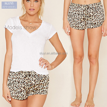 cheap ladies home leopard print sexy design casual comfortable sleeping shorts