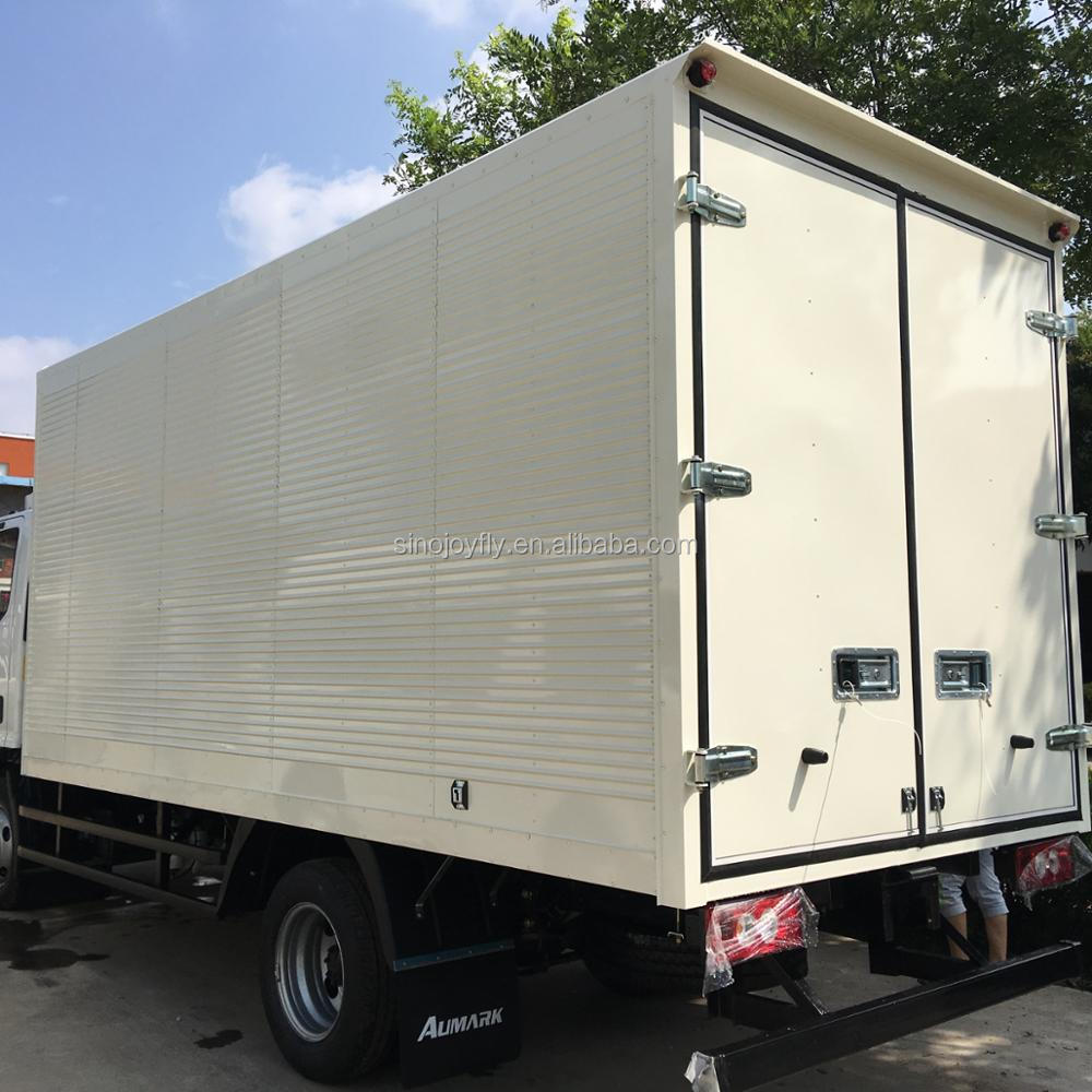Corrugated steel truck body