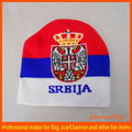football fan winter Srbija Acrylic jacquard custom beanie