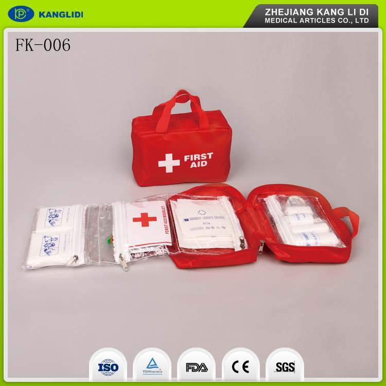 KLIDI Small Red Bag Packing Cheap Price Military Emergency Medical First Aid Kit