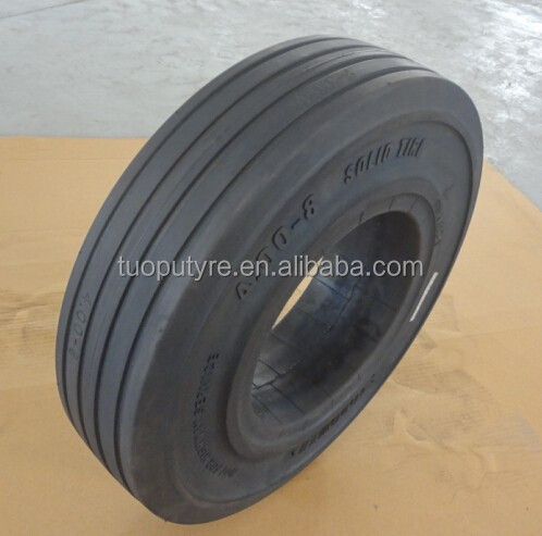 TP303 airport and port trailer solid tyres 4.00-8
