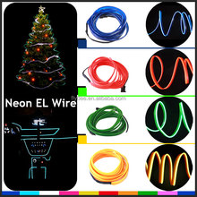 Wholesale Smart EL electroluminescent Neon Welted Wire Roll with Inverter For Car Interior Atmopshere Decoration
