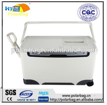 36L insulated ice plastic vaccine storage box with wheel