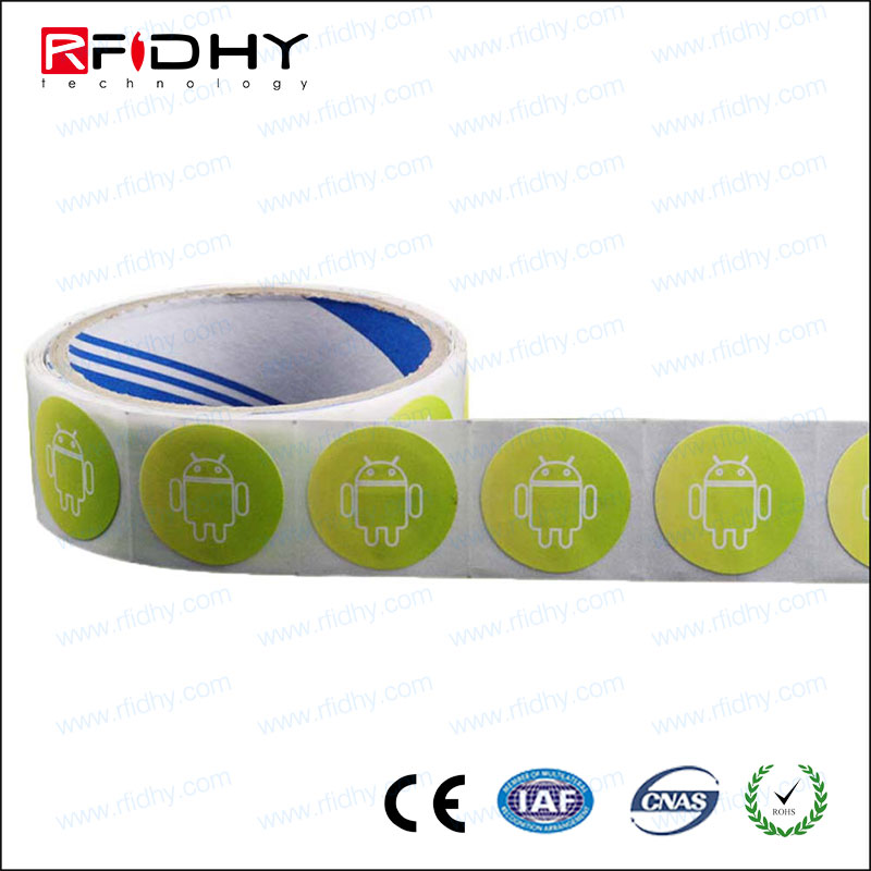 Custom logo Android Mobile phone used NTAG 213 smart RFID nfc sticker
