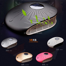 Solar charging powered car home dual-use super purification activated carbon car gifts portable USB car air purifier