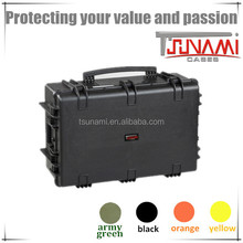 Tsunami dji case handle Plastic Carrying Case padded cases with wheels and handle