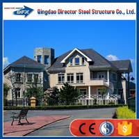 2016 China steel structure system villa light steel structure villa